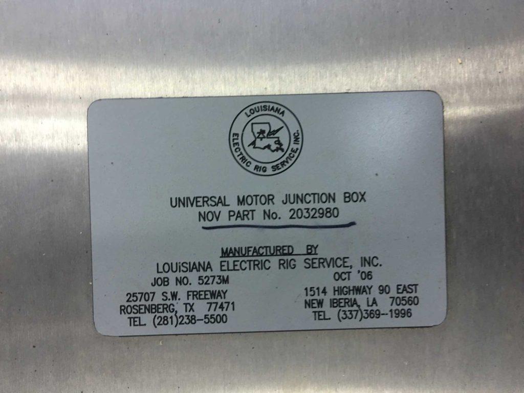 Universal Motor Junction Box – MAPS OFFSHORE SERVICES PTE LTD.